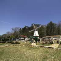 Windmill landscape in Alpine Helen, Georgia
