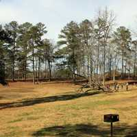 Picnic Area and landscape at High Falls State Park, Georgia