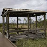 Gazebo along the boardwalk at Okefenokee National Wildlife Refuge
