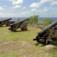 Old Cannons pointing to the sea in Guam