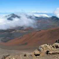 View of the visitors center in Haleakala National Park, Hawaii