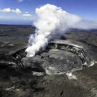 Halema'uma'u Crater in Hawaii Volcanoes National Park