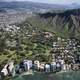 Full City View below the Mountain of Honolulu, Hawaii
