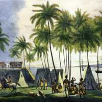 Natives at the port of Honolulu, Hawaii