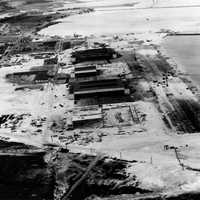 Aerial photograph of Naval Air Station Kaneohe Bay after Pearl Harbor, Hawaii
