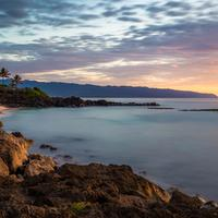 Beautiful sunset and landscape in Haleiwa, Hawaii