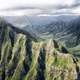 Mountains and scenic Peaks in Hawaii