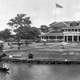 Panoramic image of Haleiwa Hotel in 1902 in Hawaii