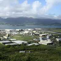 Panoramic view of Marine Corps Base Hawaii and Kaneohe Bay