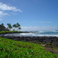 Poipu Beach landscape in Poipu, Hawaii