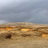 Sand Dunes Under the Cloudy Skies in Hawaii