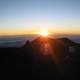 Sunset over Mauna Kea in Hawaii