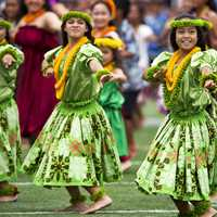 Traditional Dancers Hula Dance in Hawaii