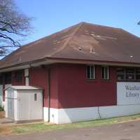 Waialua Library building in Hawaii