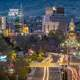 Cityscape of Boise Lighted Up at Night in Boise, Idaho