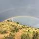 Double Rainbow over Table Rock landscape in Boise, Idaho