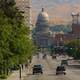 View of Streets and State Capital in Boise, Idaho