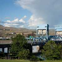 Bridge and Town landscape in Idaho