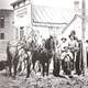 Early settlers plow the road for Main Street in Blackfoot, Idaho