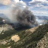 Ibex Wildfire and smoke