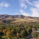 Landscape, sky, and town at Pocatello, Idaho