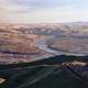 Landscape view of the valley and town of Lewiston, Idaho