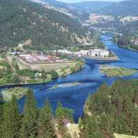 River Valley Landscape in Orofino, Idaho