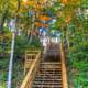 Stairway at Apple River Canyon State Park, Illinois