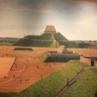 Half Picture of Ancient Cahokia at Cahokia Mounds, Illinois