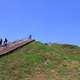 Looking up Monks Mound at Cahokia Mounds, Illinois