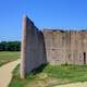 Part of the wall at Cahokia Mounds, Illinois