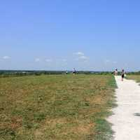 Path at the top of the Mounds at Cahokia Mounds, Illinois