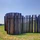 Wooden Fence at Cahokia Mounds , Illinois