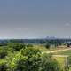 St Louis in the distance at Cahokia Mounds, Illinois