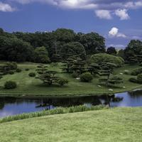 Landscape and island in the Japanese Gardens