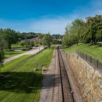 Railroad tracks in Galena
