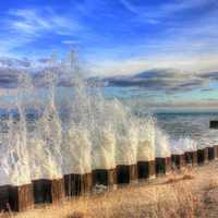 Parade of water at Illinois Beach State Park, Illinois