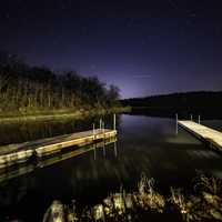 Night Time Astrophotography landscape at Lake Le Aqua Na State Park