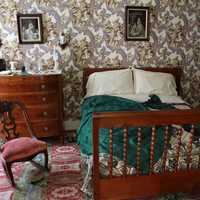 Ms. Lincoln's Bed at Lincoln Home in Springfield, Illinois