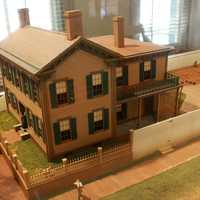 Model of Lincoln Home after remodel in Springfield, Illinois