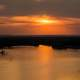 Bright Sunset over Mississippi Waters