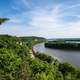 Landscape View of the curving Mississippi River