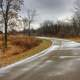 Park Road at Shabbona Lake State Park, Illinois