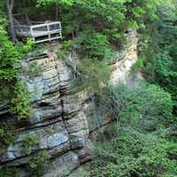 View of the Canyon Wall in Starved Rock State Park, Illinois