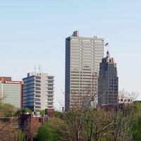 Skyline of Fort Wayne in Indiana