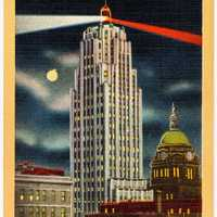 Skyscrapers on a poster of Fort Wayne, Indiana