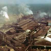 Steel Mills at Gary in 1973, Indiana