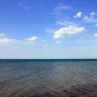Lake Water and Sky at Indiana Dunes National Lakeshore, Indiana