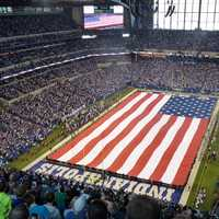 Colts stadium before the game in Indianapolis, Indiana