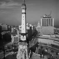 The Soldiers' and Sailors' Monument in Indianapolis, Indiana